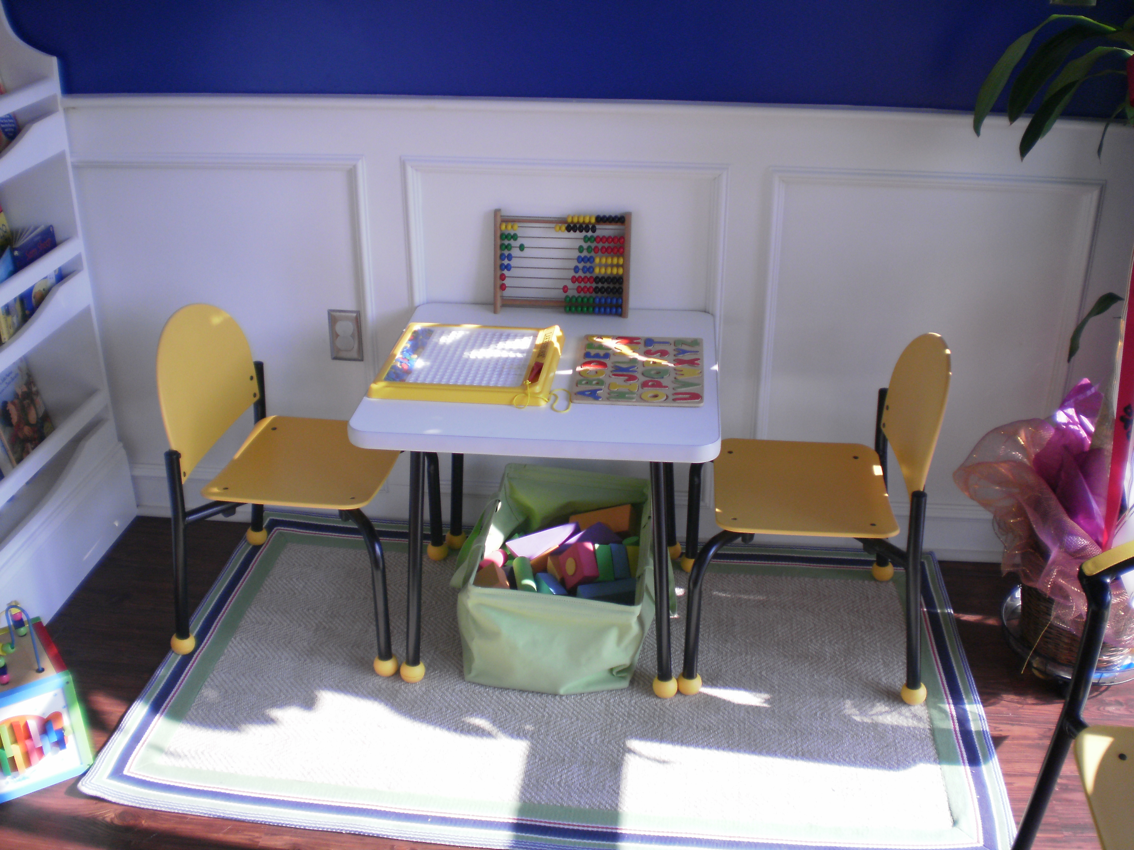Pumpkin shell enrichment school affordable and colorful for Kids waiting room furniture