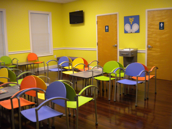 Uptown Pediatrics Affordable And Colorful Waiting Room