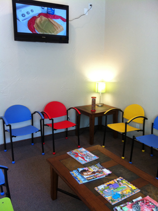 Children s dental center affordable and colorful waiting for Kids waiting room furniture