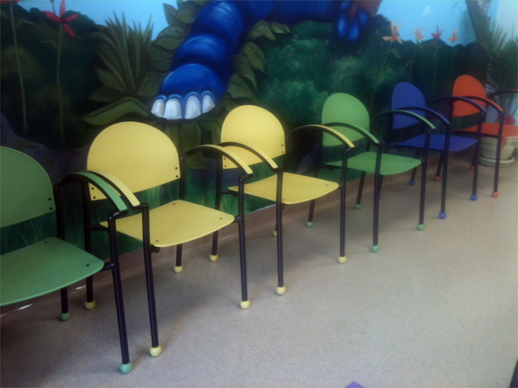 Kids place pediatrics affordable and colorful waiting for Kids waiting room furniture