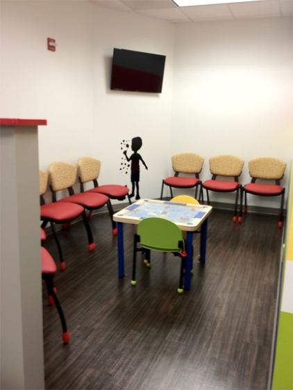 Children and adolescent services affordable and colorful for Kids waiting room furniture