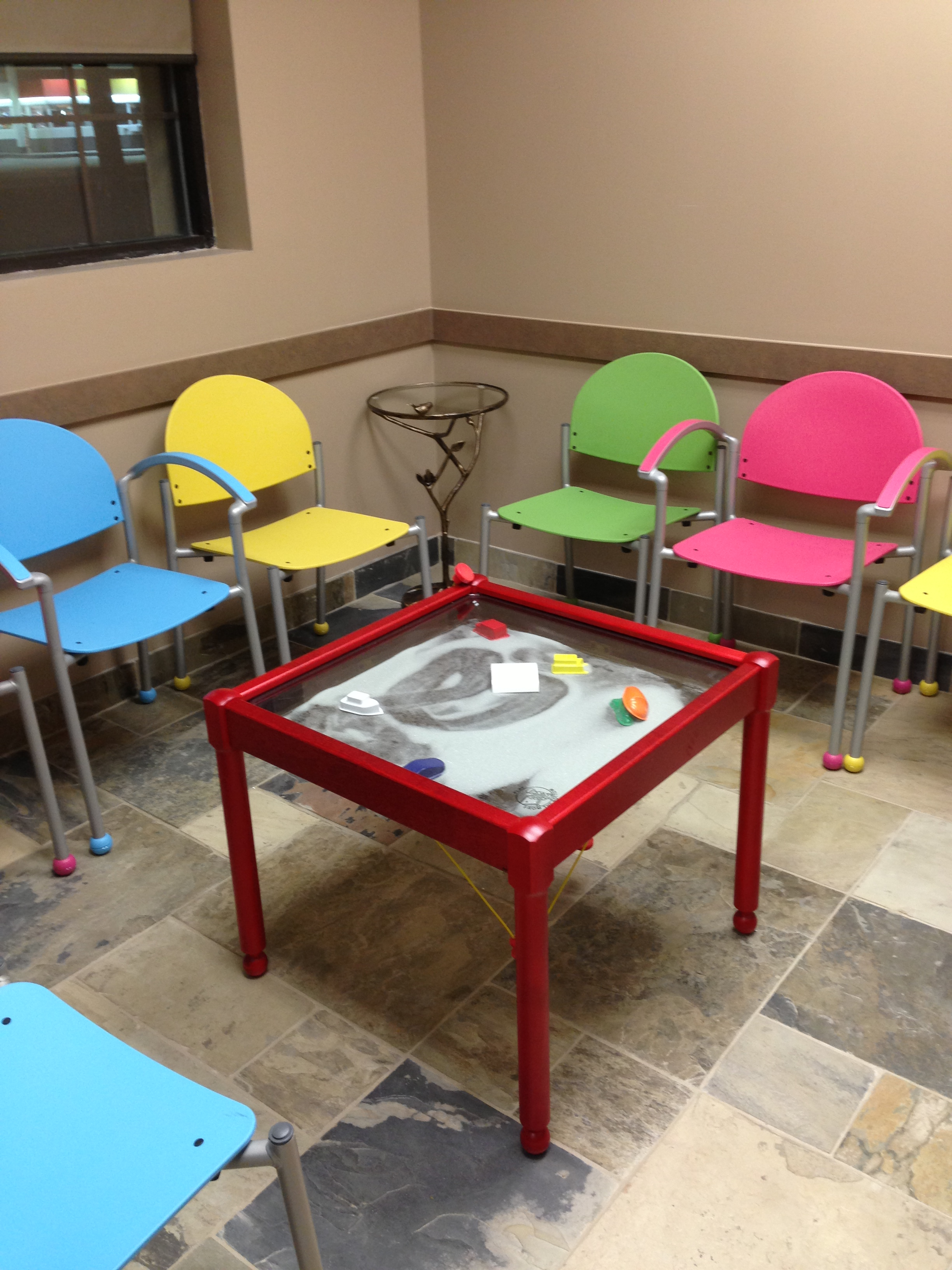 Colorful Waiting Room with Bola Chairs