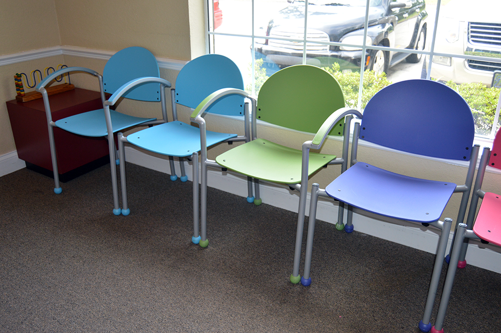 A combination of bola arm and armless works great when you for Kids waiting room furniture